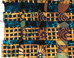 Example of convergence piecing technique. Martha Ressler