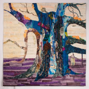The Secrets it has Kept, Studio Art Quilt by Martha Ressler. 40.5 x 40.5