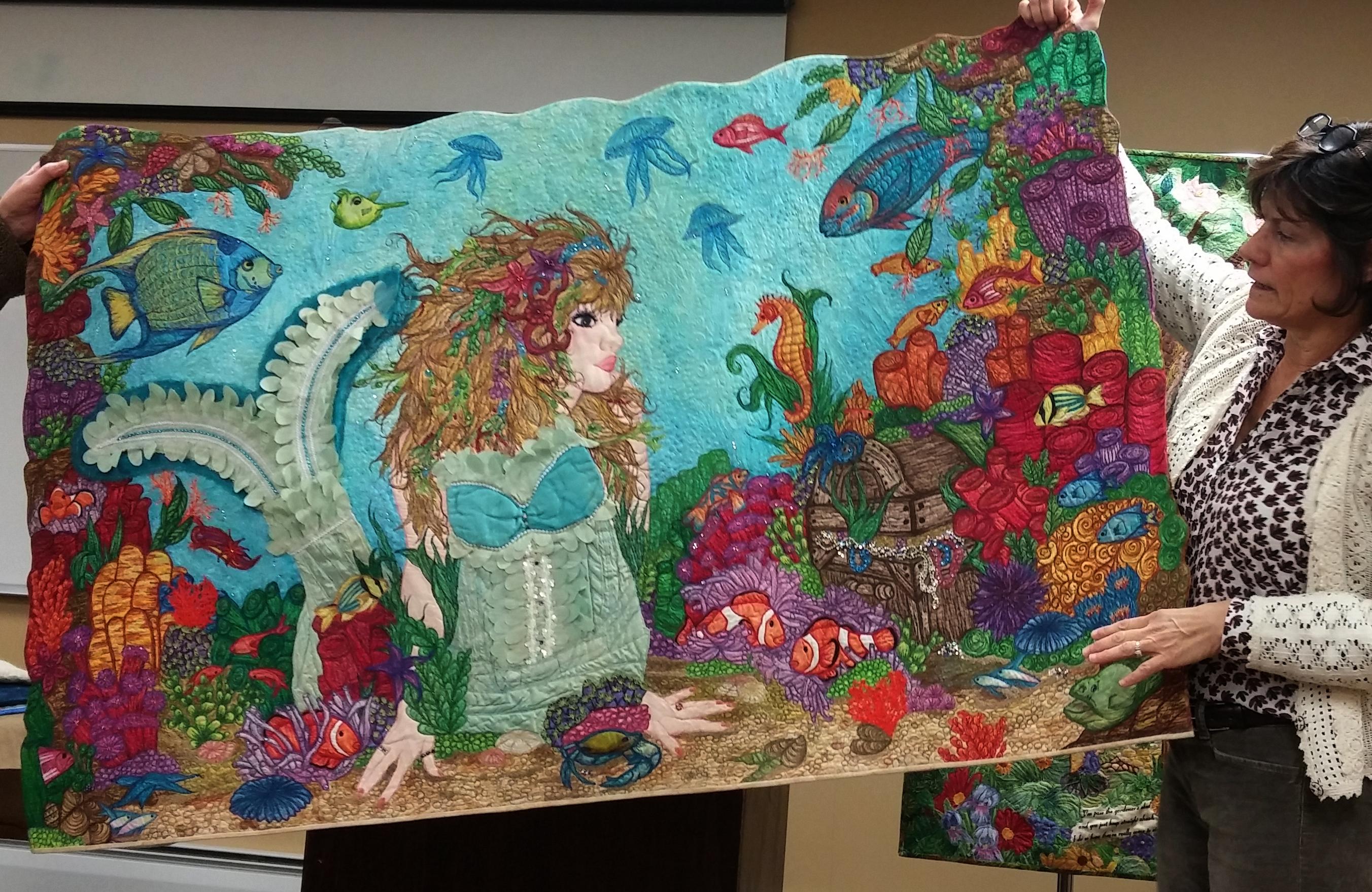 Mermaid Quilt | Martha Ressler : mermaid quilts - Adamdwight.com