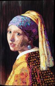Vermeer Meets Fassett, Lynn Czaban, OR, 19 x 30