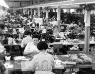 Sewing floor of the Walkin Shoe Factory