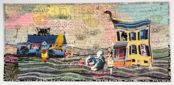 Martha Ressler Curious Happenings 15.75 x 33.25