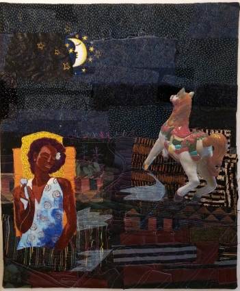 Martha Ressler Fly Me to the Moon 19.5 x 16.5