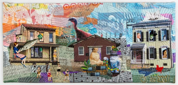 Martha Ressler Strange Neighbors? 14.25 x 30.25