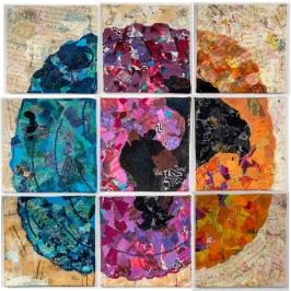 "Martha Ressler Tree Map 38 x 38"""