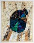 """Martha Ressler, Counting the Years, Art Quilt, 30.25 x 24"""""""