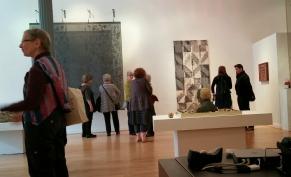 Juried Artist Members o SAQA visit Snyderman Works Gallery
