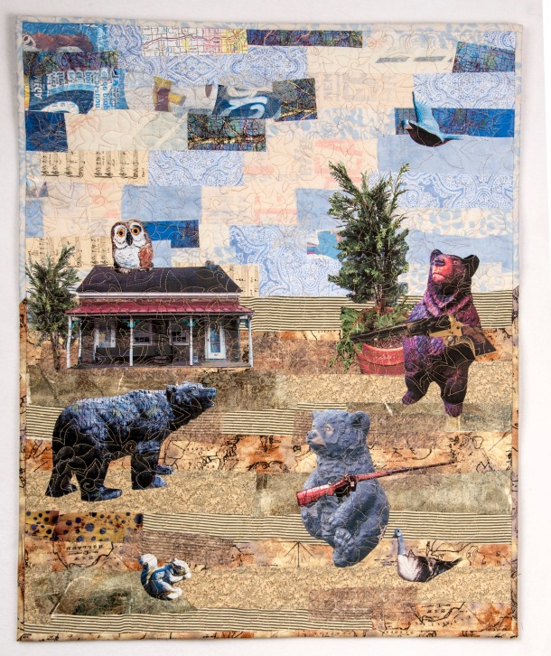 Martha Ressler The Right to Arm Bears. Art Quilt 30 x 24.25""