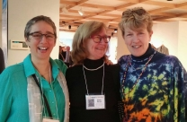Laura Tabakman, head of installation, Penny Mateer, best in show, Kitty Spangler, all around excellent volunteer.