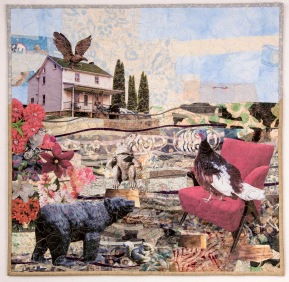 Martha Ressler, Madame Chairperson, Art Quilt, 22.5 x 23""