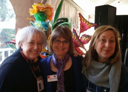 Mary Pal (artist in show with The Drifter), Martha Ressler, Maria Shell (artist in show with Tribe)