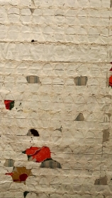 "Rachel Meginnes, Sleep Cycle, detail, acrylic, cloth, thread 75 x 73"", Award for outstanding use of traditional materials"