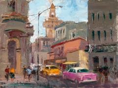 Michele Bryne Hot Cars on a Cool Cuban Day, giclee print in silent auction tonight