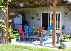 Our patio waiting for visitors!