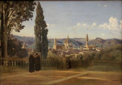 Corot, Florence, the Boboli Gardens, 1834-35