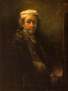 Rembrandt, Portrait of the Artist at his Easel, 1660, age 54