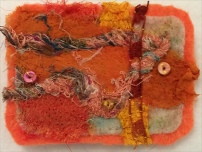 M Ressler, Needle felted brooch, about 2 x 3""