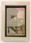 M Ressler, Down the Shore, art quilt, 5 x 7""