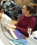Kelsey discovers the joy of quilting