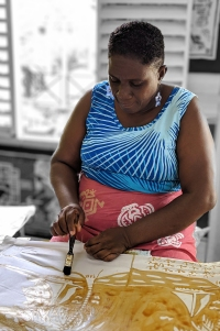 Worker at CAribella Batiks