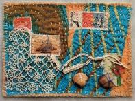 Martha Ressler, The Sea, art quilt, 5 x 7